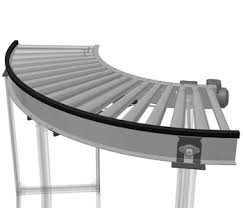 Roller conveyor-angular