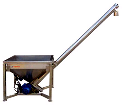 screw feed conveyor for spices